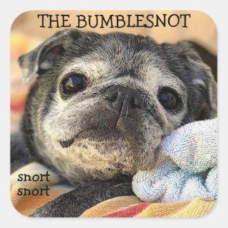 Bumblesnot Aufkleber: Snort Snort Quadratischer Aufkleber