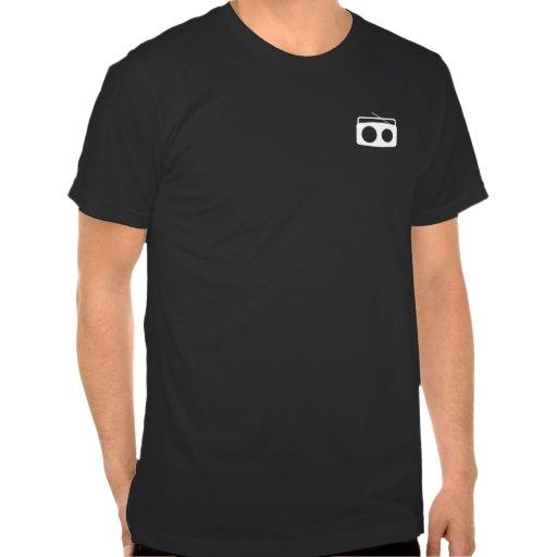 BumeBox T-Stück in Boombox (weiß auf Tasche) Hemd