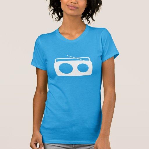 BumeBox T-Stück in Boombox (weißes Logo) T-Shirts