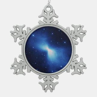 Bumerang-Nebelfleck Schneeflocken Zinn-Ornament