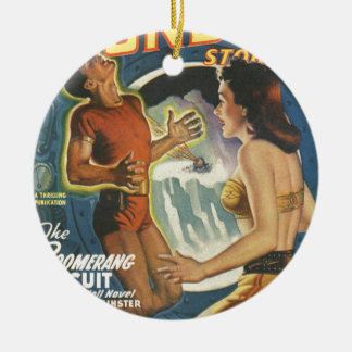 Bumerang-Stromkreis Rundes Keramik Ornament