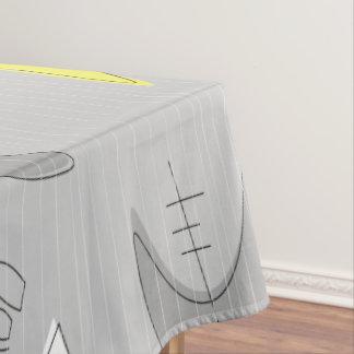 Bumerangs!  Tischdecke grau und gelb