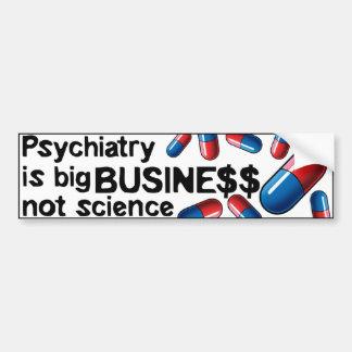 Bumperstick Wissenschaft des Psychiatrie-großen Autoaufkleber