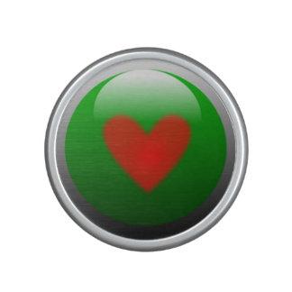Bumpster Lautsprecher mit rotem Herz-Entwurf