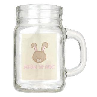 Bunbun das Häschen - Maurer-Glas-Tasse mit Griff Einmachglas