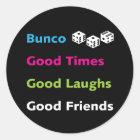 bunco gute Freunde #2 Runder Aufkleber