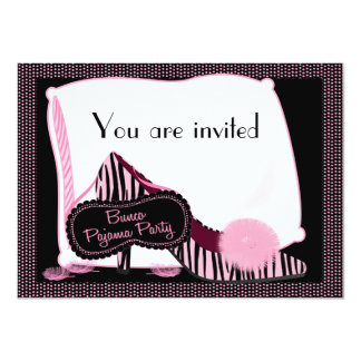 Bunco Pyjama-Party Einladung