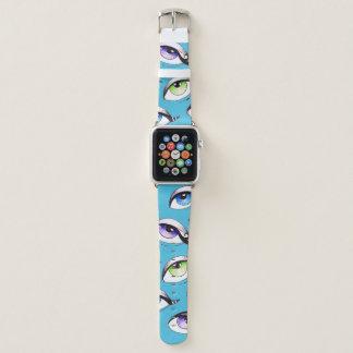 Bündel Augen blau Apple Watch Armband
