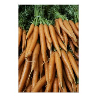 Bündel Karotten Plakat