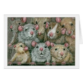 Bündel Ratten an Rattie Wiedersehen Notecard Karte