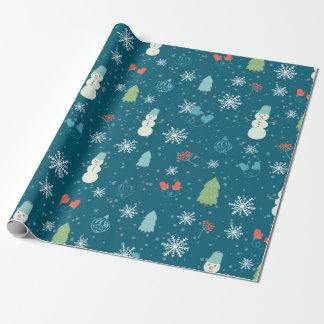 Bündelmuster der frohen Weihnachten - Geschenkpapier