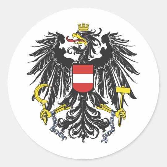 Bundesadler Österreich Runder Aufkleber