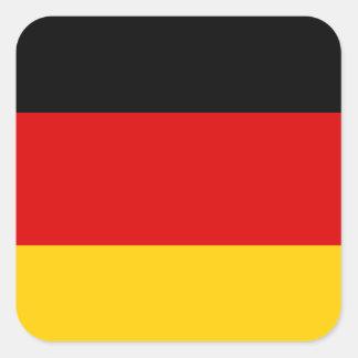 Bundesflagge Quadratsticker
