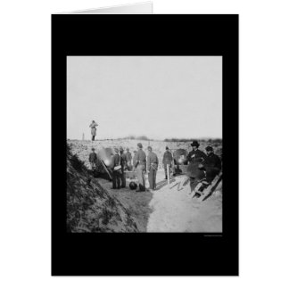Bundesstaatliche Mörser strebten Fort Sumter 1865 Karte