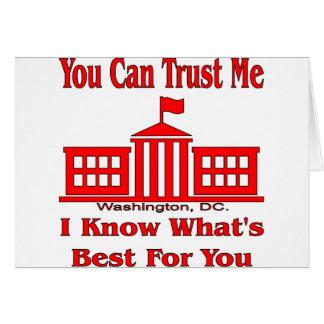Bundesstaatliche Regierung sagt vertrauen mir Karte