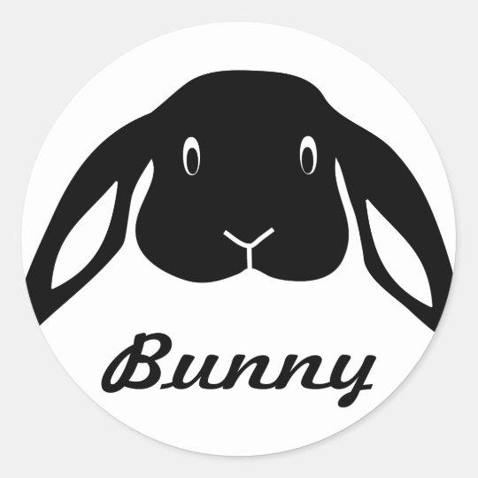 bunny hare rabbit runder aufkleber
