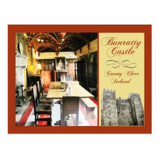 Bunratty Schloss, Landkreis Clare, Irland Postkarte