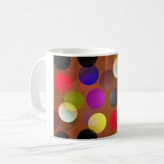 Bunt gemustert kaffeetasse