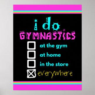 Bunt - ich tue Gymnastik überall Poster