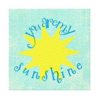 Bunt sind Sie meine Sonnenschein-Kreis-Typografie Leinwand Druck