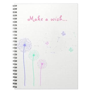 Bunt stellen Sie ein Wunsch-Notizbuch her Notizblock