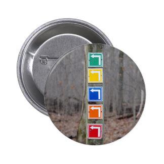 Bunt unterzeichnen Sie herein das Holz Runder Button 5,7 Cm