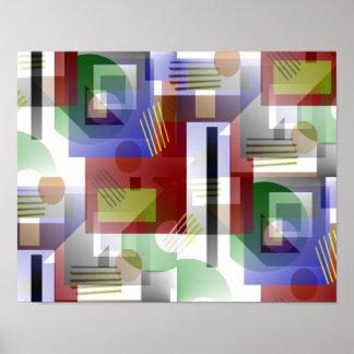 Bunte 3-D Illusions-abstrakte Kunst Poster