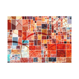 Bunte abstrakte beflecktes Glas-Kunst Nouveau Leinwanddruck