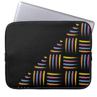 Bunte abstrakte Bürste streicht Muster Laptop Sleeve