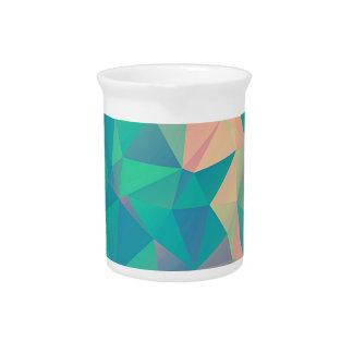 Bunte abstrakte geometrische Dreieck-Form-Formen Getränke Pitcher
