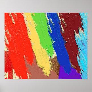 Bunte abstrakte Klecks-Linien Poster
