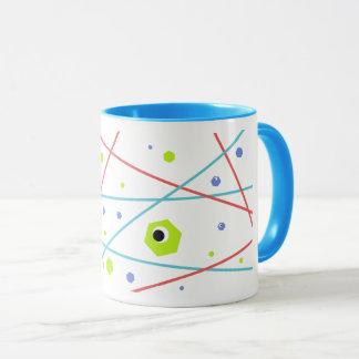 Bunte abstrakte Laser-Raum-Tasse Tasse