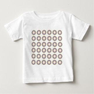 Bunte abstrakte moderne konzentrische Kreise Baby T-shirt