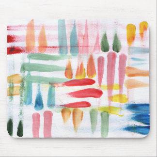 Bunte abstrakte Plakatfarbe mit Fingerspitzen Mousepad