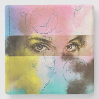 Bunte abstrakte Pop-Kunst, SteinUntersetzer