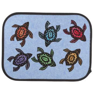 Bunte abstrakte Schwimmen-Schildkröten Auto Fussmatte
