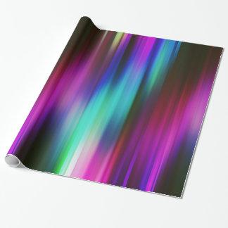 Bunte abstrakte Strahlen Geschenkpapier