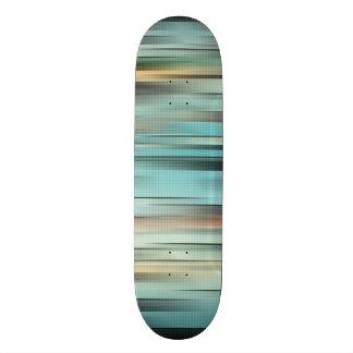 Bunte abstrakte Streifen 19,1 Cm Old School Skateboard Deck