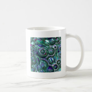 Bunte abstrakte Unschärfe 3D Kaffeetasse