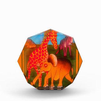 Bunte afrikanische Safarifarben des wilden Tieres Auszeichnung