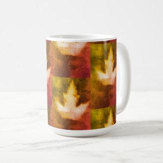 Bunte Ahornblatt-natürliche Tinten-handgemachte Kaffeetasse