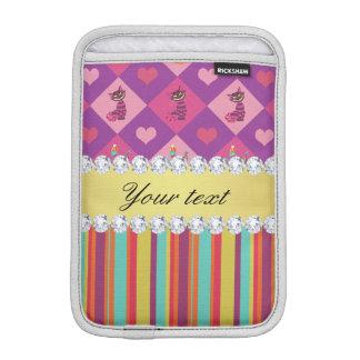 Bunte Alice im Wunderland und Streifen Sleeve Für iPad Mini