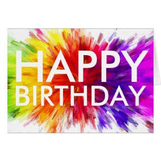 Bunte alles- Gute zum Geburtstagkarte Karte