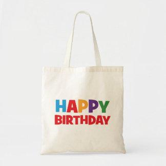 Bunte alles- Gute zum GeburtstagTaschen-Tasche Budget Stoffbeutel