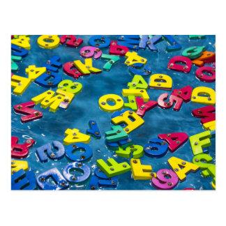 Bunte Alphabetpostkarte Postkarte