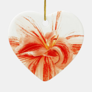 Bunte Amaryllis-Blume Keramik Ornament
