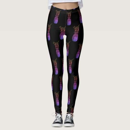 Bunte Ananas Leggings