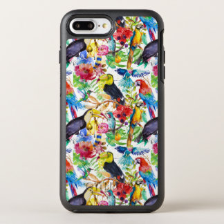 Bunte Aquarell-Papageien OtterBox Symmetry iPhone 8 Plus/7 Plus Hülle