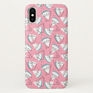 Bunte Aquarell-Wassermelonen iPhone X Hülle