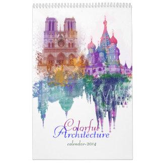 Bunte Architektur Kalender